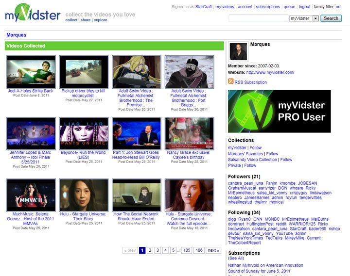 MyVidster - LiveLeak Alternatives
