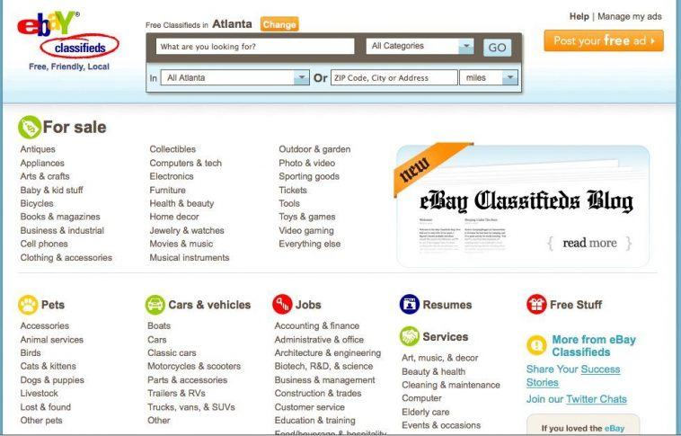eBay Classifieds is site like craigslist