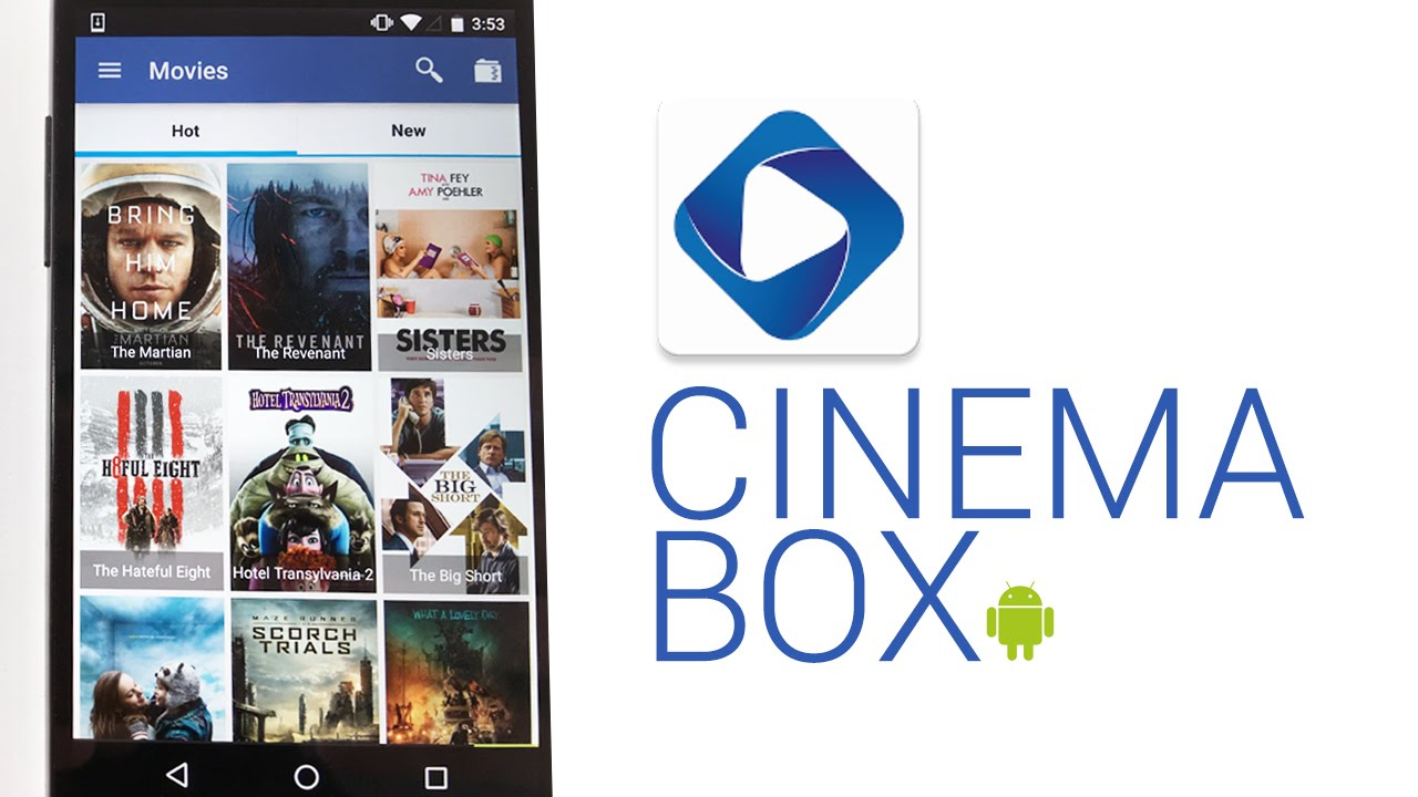 CinemaBox homepage