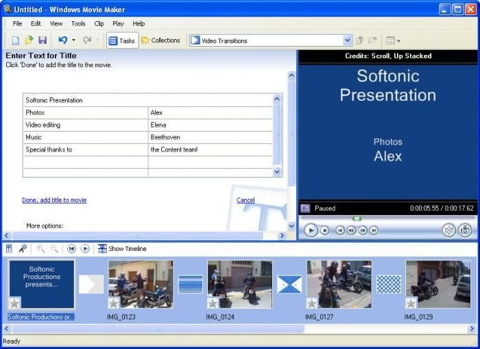 Windows Movie Maker software for pc
